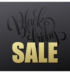 Golden black friday sale lettering background vector