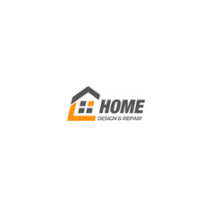 Isolated real estate agency business logo house vector