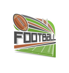 Logo of american football vector