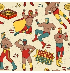 Luchadores heroes vector