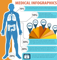 Medical infographic with human anatomy vector