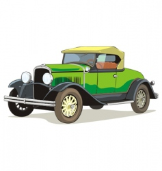 old car vector image vector image