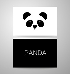 panda bear template vector image