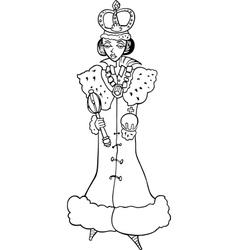 Queen Woman cartoon vector image
