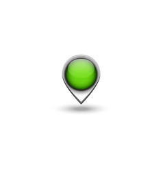 realistic map pin 3d navigation pointer with gray vector image