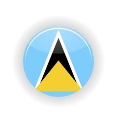 Saint lucia icon circle vector