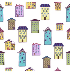 Seamless background with houses Home sweet home vector image vector image