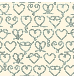 Seamless pattern made of rope hearts vector image