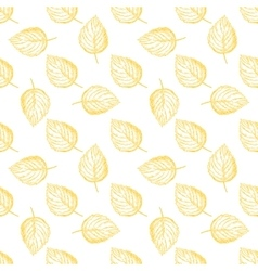 Seamless pattern with autumn leaves hand vector