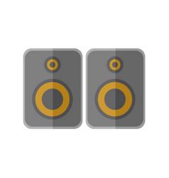 Stereo studio speakers graphic vector