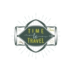 Travel inspiration quotes on sportbag vector image