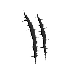 Two vertical trace of monster claw vector image