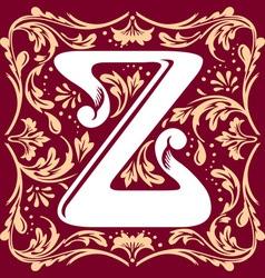 vintage letter Z vector image vector image