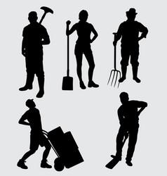Worker silhouette vector