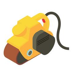 Yellow jack plane icon isometric 3d style vector
