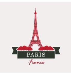Paris and Eiffel Tower vector image