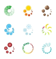 Computer download icons set cartoon style vector image