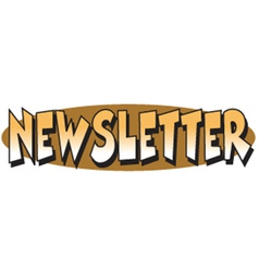 Newsletter header vector