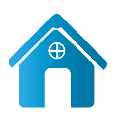Silhouette front view house icon flat vector