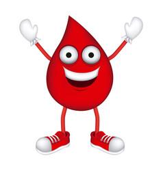 red sticker drop happy icon vector image