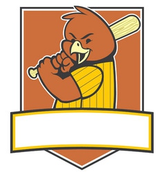 Bird baseball player vector