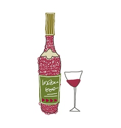 A bottle of wine vector