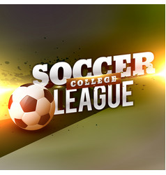 sports football soccer background design template vector image