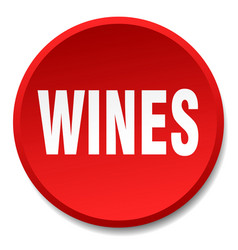 Wines red round flat isolated push button vector