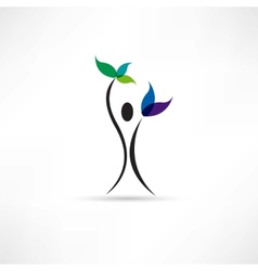 people and plant icon vector image