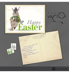 Easter background with bunny vector