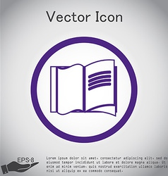 Open book icon vector