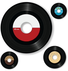 retro 45 rpm record labels vector image