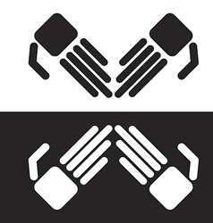 Simple robot hands vector