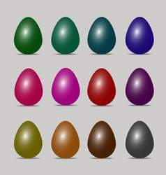 Easter egg colors art design vector
