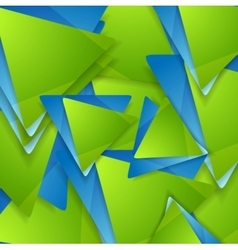 Tech geometric background Triangles pattern vector image