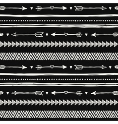 Tribal hand drawn background ethic doodle pattern vector