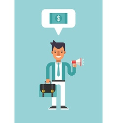 Business concepts with businessman cartoon vector