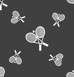 tennis icon sign Seamless pattern on a gray vector image