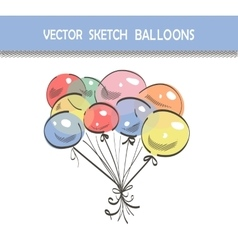 Sketch balloons vector