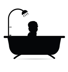 Child in bathtub vector