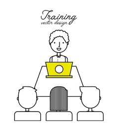 Training course design vector