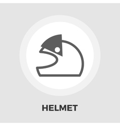Motorcycle helmets flat icon vector