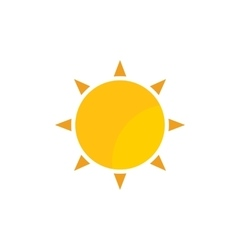 yellow gold sun with rays flat icon vector image