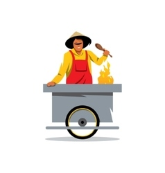 Street food store cartoon vector
