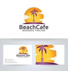 Beach cafe vector