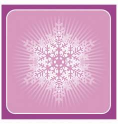 big snowflake vector image vector image