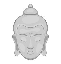 Buddha statue icon black monochrome style vector