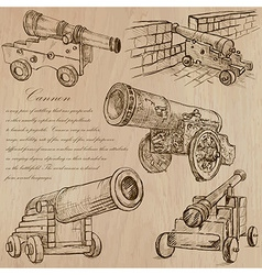 Cannons - An hand drawn Converted vector image