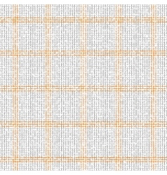 Checkered grey orange pattern vector image