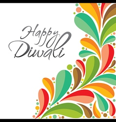 colorful happy Diwali greeting card or poster vector image vector image